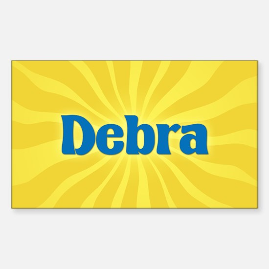 Debra Sunburst Oval Decal