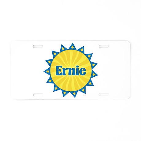 Ernie Sunburst Aluminum License Plate