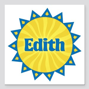 Edith Sunburst Square Car Magnet