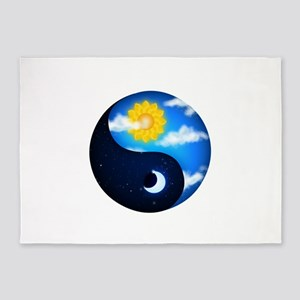 Day Night Yin Yang 5'x7'Area Rug