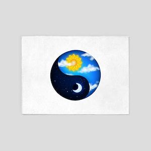 Day Night Yin Yang 5'x7'Area Rug