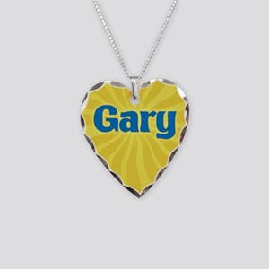 Gary Sunburst Necklace Heart Charm