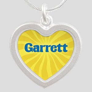 Garrett Sunburst Silver Heart Necklace