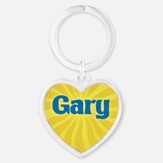 Gary Sunburst Heart Keychain