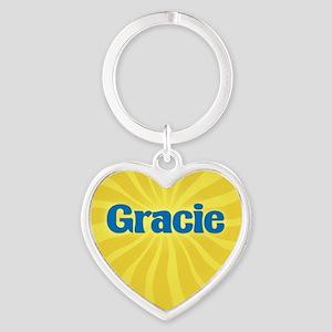 Gracie Sunburst Heart Keychain