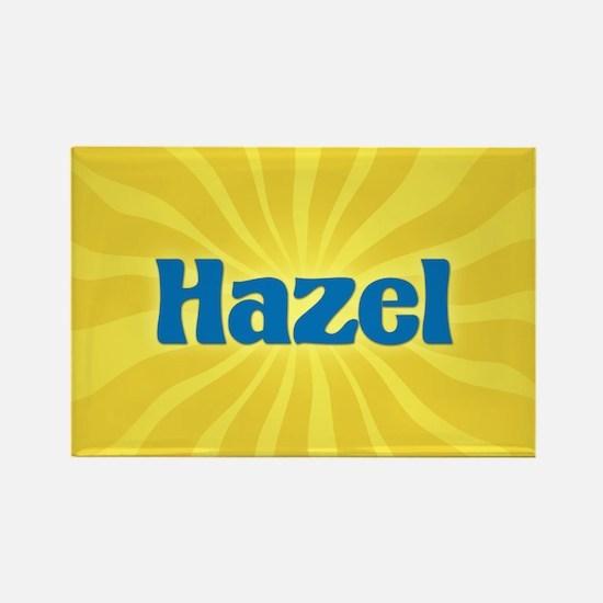 Hazel Sunburst Rectangle Magnet