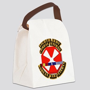 Army - 8th Army w Korean Svc Canvas Lunch Bag