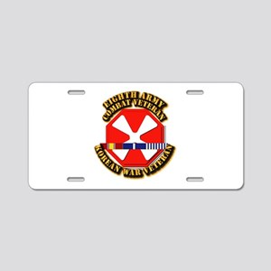 Army - 8th Army w Korean Svc Aluminum License Plat
