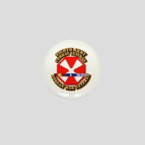Army - 8th Army w Korean Svc Mini Button