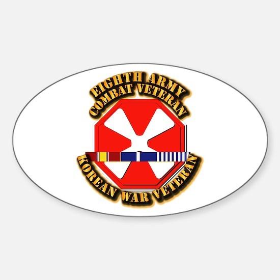 Army - 8th Army w Korean Svc Sticker (Oval)
