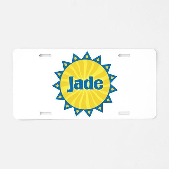 Jade Sunburst Aluminum License Plate