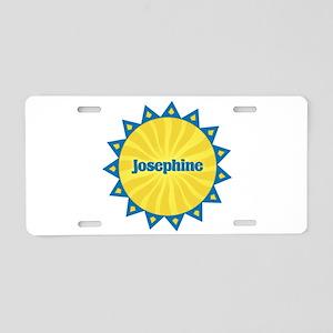 Josephine Sunburst Aluminum License Plate