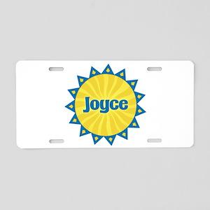 Joyce Sunburst Aluminum License Plate
