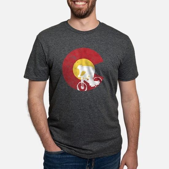 Mountain Bike Colorado Mens Tri-blend T-Shirt