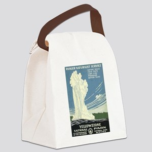 Yellowstone National Park Canvas Lunch Bag