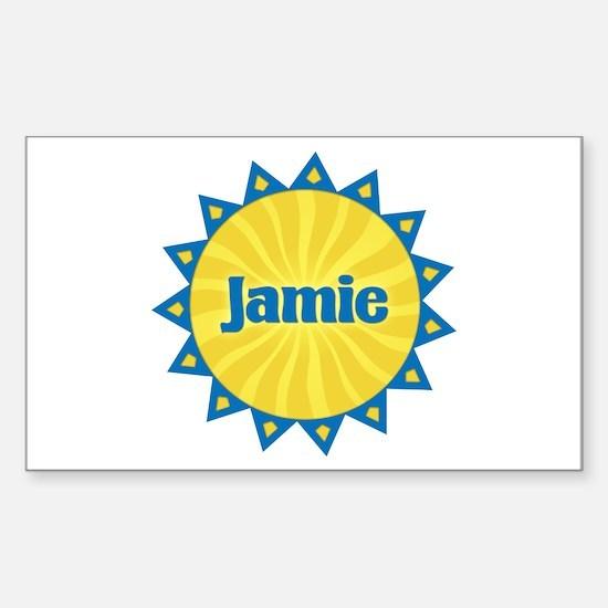 Jamie Sunburst Rectangle Decal