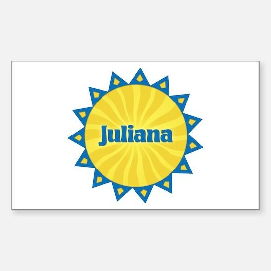Juliana Sunburst Rectangle Decal