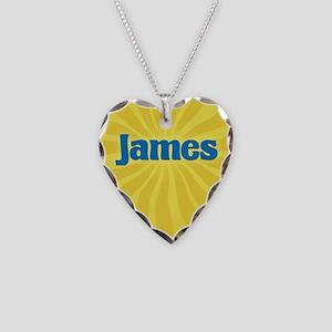 James Sunburst Necklace Heart Charm
