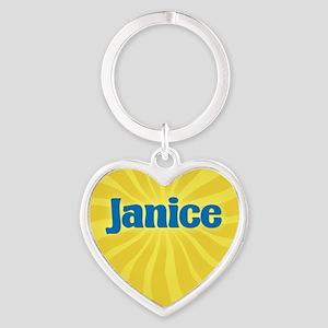 Janice Sunburst Heart Keychain