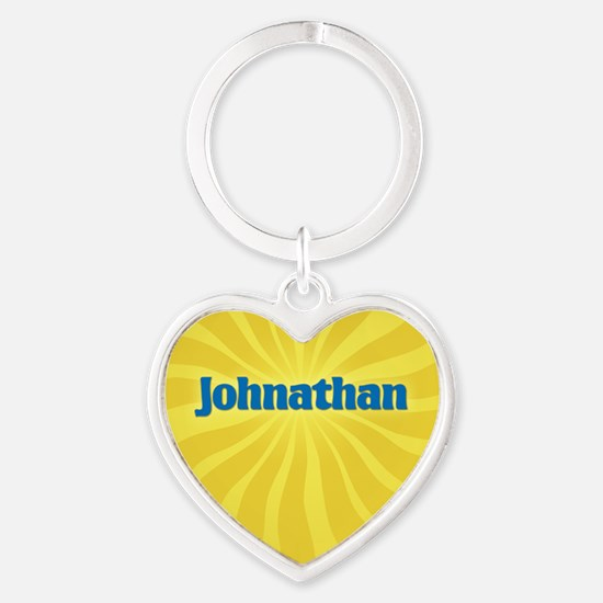 Johnathan Sunburst Heart Keychain