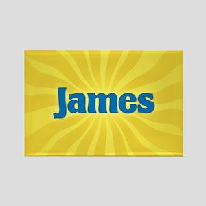 James Sunburst Rectangle Magnet