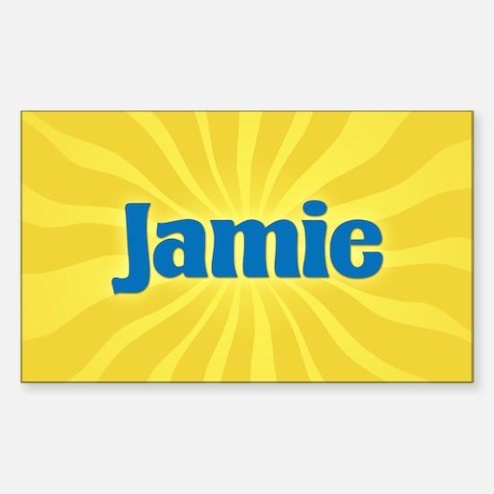 Jamie Sunburst Oval Decal