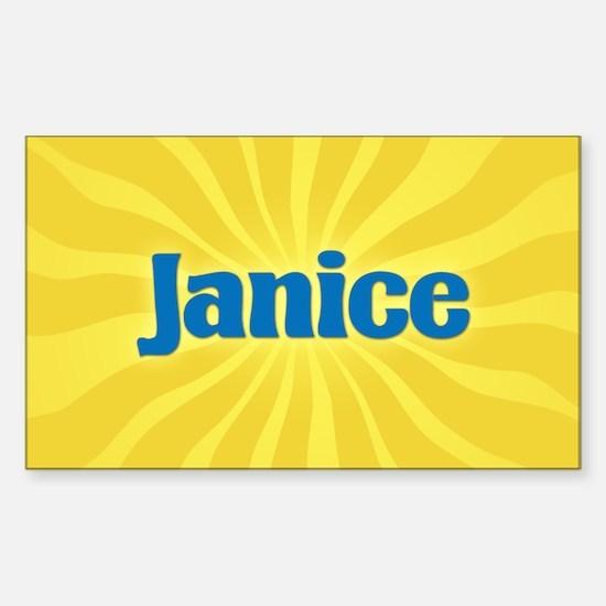 Janice Sunburst Oval Decal