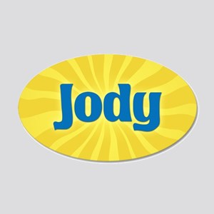 Jody Sunburst 20x12 Oval Wall Decal