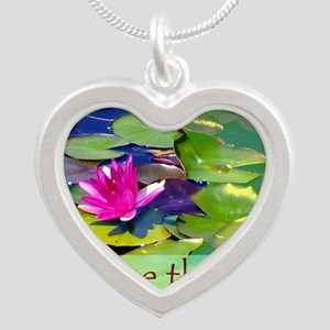 Massage Therapist / Waterlily Silver Heart Necklac