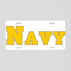 Navy3 Aluminum License Plate