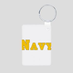 Navy3 Aluminum Photo Keychain