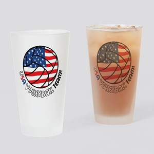 USA Volleyball Team Drinking Glass