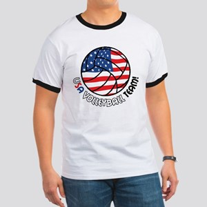 USA Volleyball Team Ringer T