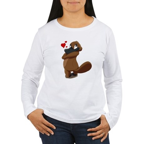 platypus hearts Long Sleeve T-Shirt