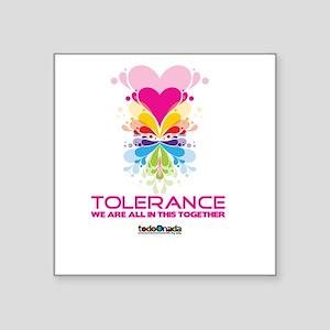 """tolerance Square Sticker 3"""" x 3"""""""