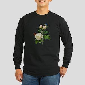 Pierre-Joseph Redoute Rose Long Sleeve Dark T-Shir