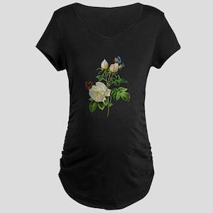 Pierre-Joseph Redoute Rose Maternity Dark T-Shirt