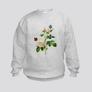 Pierre-Joseph Redoute Rose Kids Sweatshirt