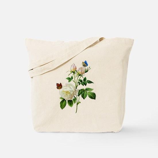 Pierre-Joseph Redoute Rose Tote Bag