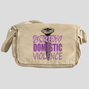 Screw Domestic Violence Messenger Bag