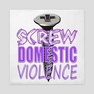 Screw Domestic Violence Queen Duvet