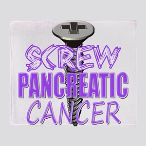 Screw Pancreatic Cancer Throw Blanket