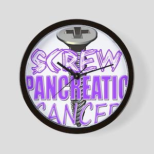 Screw Pancreatic Cancer Wall Clock