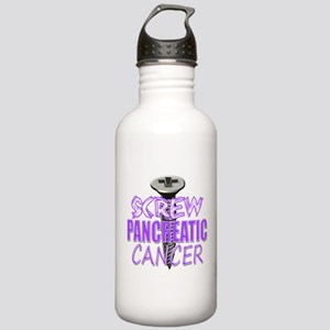 Screw Pancreatic Cancer Stainless Water Bottle 1.0