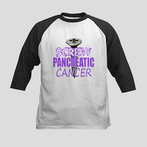 Screw Pancreatic Cancer Kids Baseball Jersey