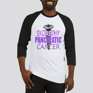 Screw Pancreatic Cancer Baseball Jersey