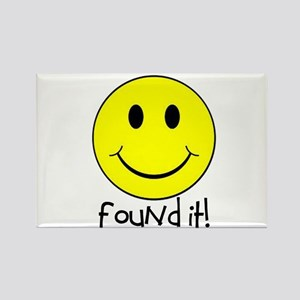 Found It Smiley! Rectangle Magnet