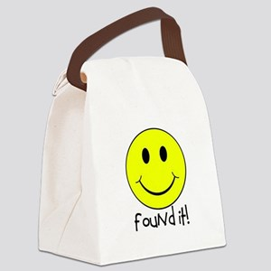 Found It Smiley! Canvas Lunch Bag