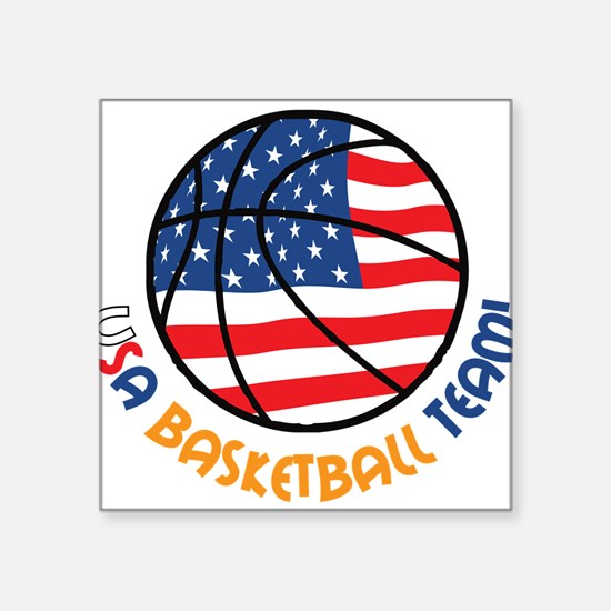 "USA Basketball Team Square Sticker 3"" x 3"""