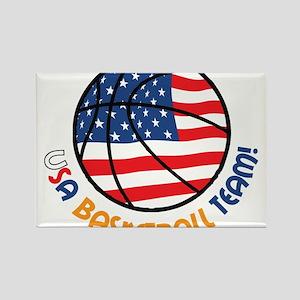 USA Basketball Team Rectangle Magnet